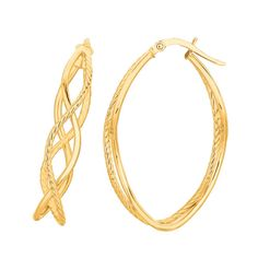 Ebay NissoniJewelry presents - 14K Yellow Gold Shiny Oval Shape Freeform Fancy Hoop Earrings    Model Number:ER1495    http://www.ebay.com/itm/14K-Yellow-Gold-Shiny-Oval-Shape-Freeform-Fancy-Hoop-Earrings/321612190608