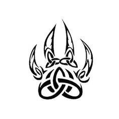 Celtic Wolf Paw Tattoo Design Wolf Paw Tattoos Paw Tattoo Tattoos