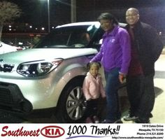 #HappyAnniversary to Natalie Evans on your 2014 #Kia #Soul from Jerry Tonubbee at Southwest Kia Mesquite!