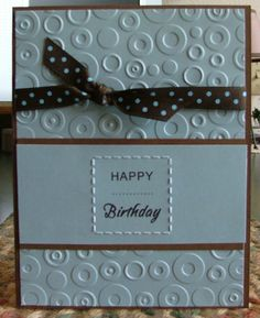 interesting embossing folder; similar to a Darice one I have.