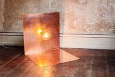 90° Floor Lamp with Atelier Clear Globe Bulb   Copper   Design by Frama   Photographed by Michael Falgren