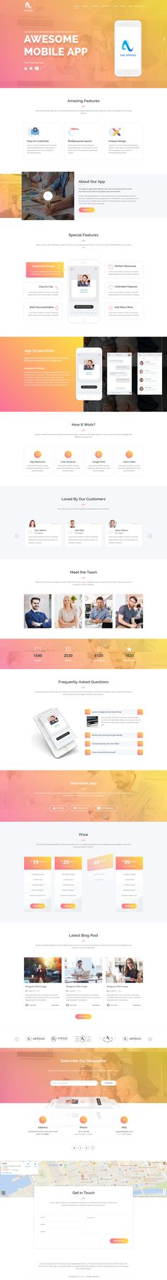 A Perfect Mobile App Landing Page