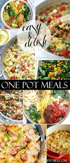 A round-up of One Pot Skillet Meals that are easy and delish!