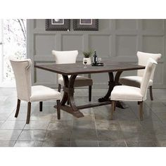 Found it at Wayfair - Weathered Oak Rustic Dining Table