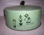 Vintage rustic green metal cake cover Art Deco design by RetrospectiveResale on Etsy, $25.00 USD