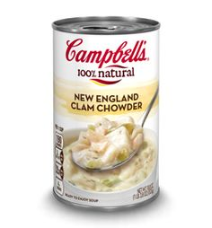 New England Clam Chowder - add a little corn and a couple dashes hot sauce...love this stuff!