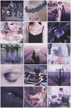 Lavender Witch aesthetic requested by Witch Aesthetic, Aesthetic Collage, Purple Aesthetic, Lavender Aesthetic, Wiccan, Witchcraft, Color Inspiration, Character Inspiration, Foto Fantasy