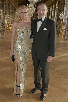 Diane Kruger in Jason Wu. Gold Dress, Dress Up, Nice Dresses, Prom Dresses, Couture Looks, Glamour, Diane Kruger, Fashion Show, Fashion Design