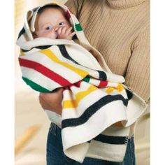 Hudson's Bay baby blanket | great gift for new parents!