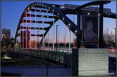 Martin Luther King Jr bridge Fort Wayne