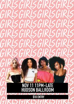 POSTERS- 'Girls' monthly hip hop night on Behance