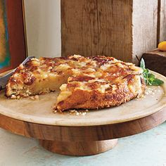 Upside-Down Apple Tart Recipe Desserts with butter, all-purpose flour, salt, sugar, cold water, granny smith apples, butter