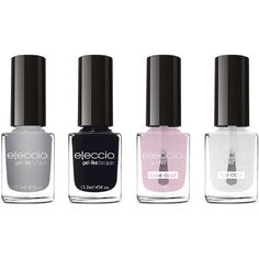 Eleccio Professional Gel Like Nail Polish - Set Of 4 (3565 RSD) ❤ liked on Polyvore featuring beauty products, nail care, nail polish, gray neutral combination set, gel nail color, shiny nail polish, gel nail care and gel nail polish