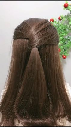 Front Hair Styles, Short Hair Styles Easy, Medium Hair Styles, Hairdo For Long Hair, Bun Hairstyles For Long Hair, Fast Hairstyles, Girl Hairstyles, Hair Tutorials For Medium Hair, Braided Hairstyles Tutorials
