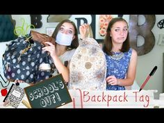 ▶ School's-Out Backpack Tag | Brooklyn and Bailey - YouTube