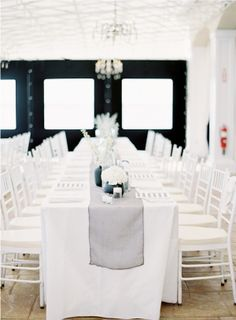 a little too much white, but i'm totally stealing the table runner idea