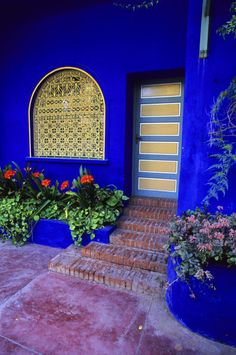 Bright blues in Morocco, by Wolfgang Kaehler