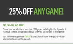 25% Off Any Game