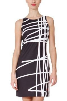 Desigual Sil black white dress