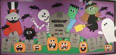 Halloween Monster Mash bulletin board