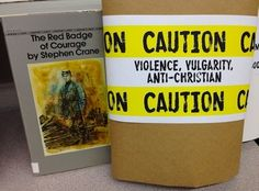 Banned Books Caution Labels - You can customize the labels or use the 126 pre-printed ones.