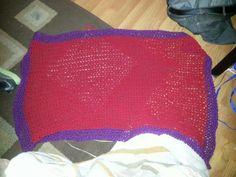 Infant crochet blanket