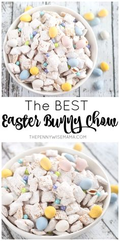 The BEST Easter Bunny Chow - simple and delicious recipe! The most beautiful picture for . - The BEST Easter Bunny Chow – simple and delicious recipe! The most beautiful picture for easter r - Easter Deserts, Easter Snacks, Easter Appetizers, Easter Dinner Recipes, Easter Treats, Holiday Recipes, Easter Party, Easter Meal Ideas, Easy Easter Desserts