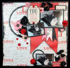 Scrapbook ta vie: Scrapcouleur de févier Hug You, Scrapbooking, Album, Frame, How To Make, Decor, Decoration, Decorating, Scrapbooks
