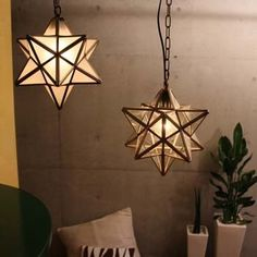 Buff store: It is star brass star type pendant lamp vintage processing craftsman manual labor Frost glass clear electric bulb attachment in star French to sparkle in the Etoile pendant light Moroccan night sky Pendant Lamp, Pendant Lighting, Stair Well, Geometric Lamp, Candle Lamp, Floor Colors, My Room, Lamp Light, Bulb
