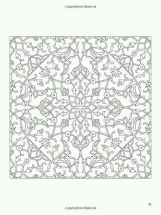 Trendy how to draw mandala pattern dover publications Islamic Art Pattern, Arabic Pattern, Mandala Pattern, Zentangle Patterns, Pattern Art, Embroidery Patterns, Textile Patterns, Coloring Book Pages, Coloring Sheets