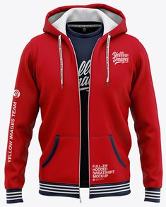 Full-Zip Hooded Sweatshirt - Front View Of Hoodie. Unzipped hoodie with switchable t-shirt as an inner layer.The t-shirt is switchable. 3d Templates, Stylish Hoodies, Jean Jumper, Sleeveless Shirt, Hoodie Jacket, Mens Sweatshirts, Kangaroo Pouch, Hoods, Crew Neck