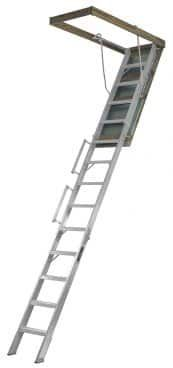 Louisville Ladder Aluminum Attic Ladder with 350 lb Load Capacity and to Ceiling Height Attic Office, Attic Playroom, Attic Rooms, Attic Spaces, Attic Library, Attic Closet, Attic Apartment, Attic Staircase, Attic Ladder