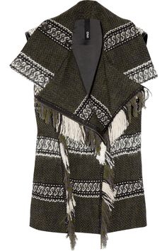 Edun Fringed knit vest