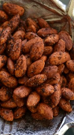 Learn how to make perfectly seasoned Smoky Spicy Roasted Almonds that are so much better than store bought at a fraction of the cost.