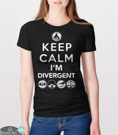 """Keep Calm, I'm Divergent"" Divergent T-Shirt 