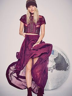Free People Lost In Light Skirt at Free People Clothing Boutique