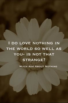"""Much Ado About Nothing - Act 4, Scene 1 - Shakespeare  """"I do love nothing in the world so well as you: is not that strange?"""""""