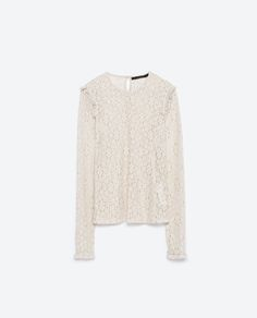 Image 8 of LACE TOP from Zara