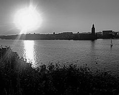 Sailing in the...#sunset #sunsets #sun #sunlight #water #reflection #reflections #wiew #view #architecture #building #buildings #boat #sailboat #city #stockholm #sweden #bw #bnw #blackwhite #blackandwhite #bestofstockholm #stockholm_insta #viewstockholm by christerwandelstam