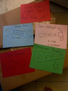 """Hands on Math in High School: Made4Math attempt #1 - Math """"toolkit"""" posters :)"""