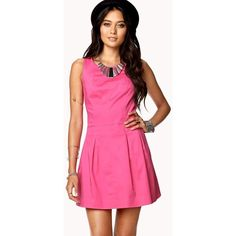Forever 21 Pink Aline Dress ❤ liked on Polyvore