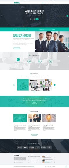 RIDER it's a Clean, Flexible and Fully Responsive HTML5 template, that offers endless possibilities to customize your own business or personal website.  #website #template #html #business #corporate #creativemarket