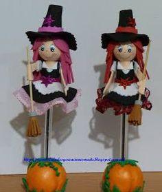 Resultado de imagen para fofulapiz halloween con moldes
