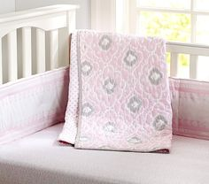 Claire Nursery Bedding   Pottery Barn Kids With a grey crib!