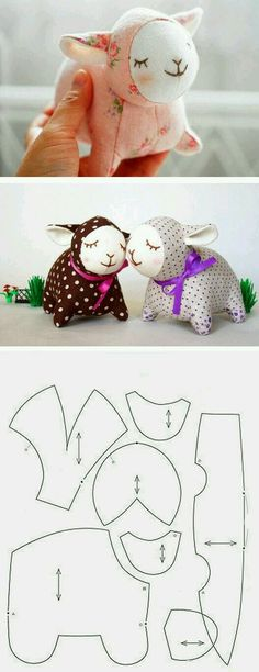 Such a cute little lamb sewing pattern!