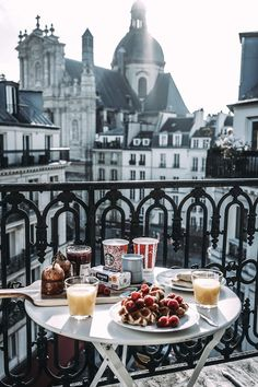 Wish I could take my breakfast from a balcony with this view of Paris