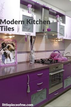 The kitchen is the heart of any home and tiles are inevitable element in every kitchen. In the post we present some tips and 14 kitchen tiles designs and ideas for your inspiration. Modern Kitchen Tiles, Kitchen Tiles Design, Tile Design, Kitchen Decor, Decorating Kitchen, Dyi, Traditional Tile, Easy Jobs, Accent Colors
