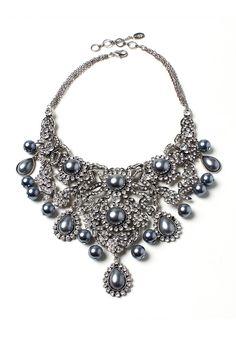 Amrita Singh - Anna Necklace in Gray Pearl