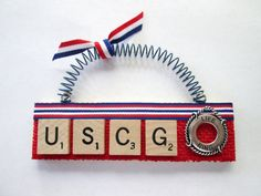 These fun and unique ornaments are made from vintage Scrabble tiles and are ready to hang on the tree or decorate a gift. Ornaments vary in length from to Scrabble Tile Crafts, Scrabble Wall Art, Holiday Crafts, Home Crafts, Crafts To Make, Christmas Decor, Christmas Ideas, Merry Christmas, Xmas