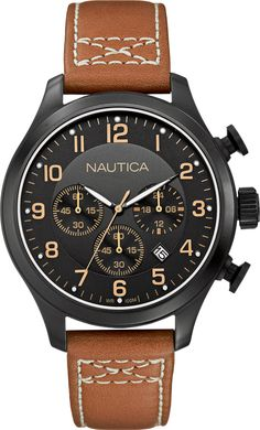Nautica Chrono Classic Brown ref. number A16599G